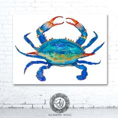 Blue Crab fine art print is signed and numbered with its edition. It is reproduced from an original watercolor painting. SPECIAL NOTE: This fine art reproductionprint is part of a limited edition run of 200. You may notice that limited edition prints run slightly more than regular run prints. Available in: Prints Only Matted Gallery Wrapped Reproduction Giclee Canvas GALLERY WRAPED CANVAS: FEATURES AND BENEFITS Capture the timeless elegance and subtle texture of an original work with art ...