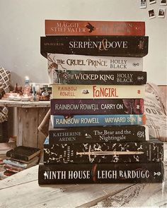 Ami the Booktrovert on Instagram: books, book aesthetic, book stack, book photography, reading, bookstagram, tbr, ya, fantasy, to be read pile, the cruel prince, the wicked king, ninth house, the starless sea, call down the hawk, serpent & dove