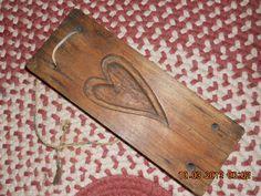 18th Early 19th C Walnut Maple Sugar Mold with Teardrop Shaped Heart Cutouts   eBay  Sold   110.00.    ...~♥~