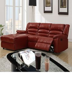 small sectional sofa with recliners - Small Leather Recliners