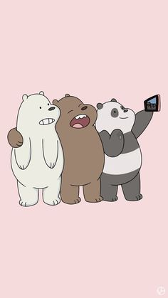 WE bears is a cute tv show for kids Cute Wallpapers, Phone Wallpapers Tumblr, We Bare Bears Wallpapers, Tumble Wallpaper, Lock Screen Wallpaper, Bear Wallpaper, Cool Wallpaper, Wallpaper Cartoon Iphone, Kawaii Wallpaper