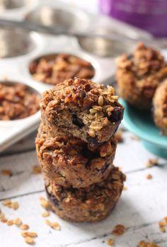 Vegan Blueberry Banana Streusel Muffins