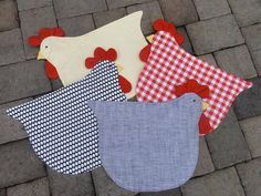 Spring Chickens - Placemats set of 4 made of quality fabric