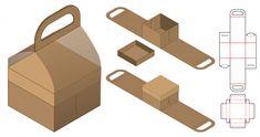 Paper bag packaging die-cut and bag mockup Vector Food Packaging Design, Bag Packaging, Diy Gift Box, Diy Box, Paper Box Template, Box Templates, Paper Bag Design, Bag Mockup, Creations