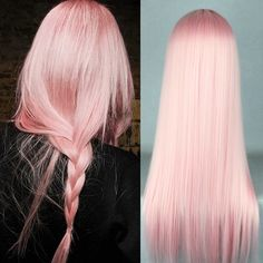 63 stunning examples of brown ombre hair - Hairstyles Trends White Ombre Hair, Pink And Black Hair, Pink Blonde Hair, Light Pink Hair, Girl With Pink Hair, Ombre Hair Color, Pink Wig, Pale Pink Hair, Long Pink Hair