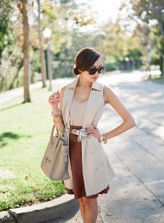 Chriselle_Lim_Celine_luggage_taupe_Dita_Mcginn_collection_trench_vest_1