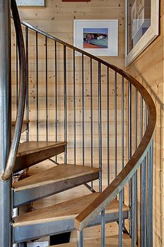 Shabby Chic Curving Staircase Design In Wood And Iron. Discovered On  Porch.com