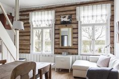 Same world, my own life: joulukuuta 2015 Cabin Homes, Log Homes, Floor Molding, Simply Home, Log Home Decorating, House In The Woods, Home Interior Design, Rustic Decor, Sweet Home