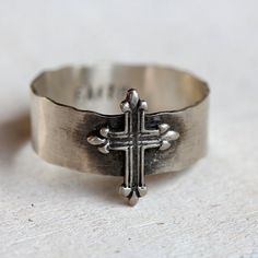 Cross ring by PraxisJewelry on Etsy