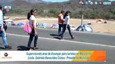 Supervizando Area de acampar en Playas de Manzanillo Colima