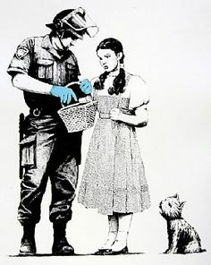 Banksy Stop and Search screenprint 2007