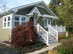 Sixty-Fifth Avenue: Craftsman style cottage - Crownsville Gray HC-106 by Benjamin Moore.