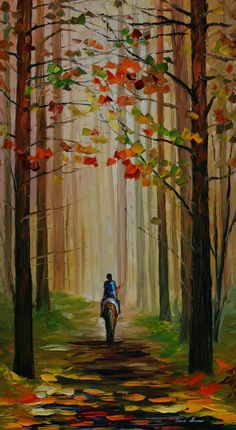 Beautiful painting!!!! Autumn Stroll on a Horse