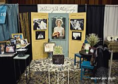 wedding show booth ideas | great idea to use doors as our back drop to showcase our work i ...