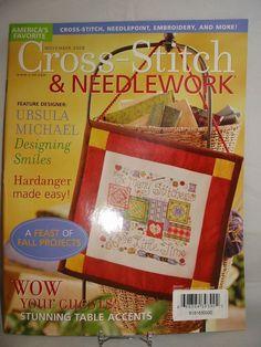 Cross Stitch & Needlework Magazine November 2008 Autumn Pumpkin Winter New