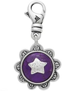 Shield of Beauty - dyed howlite and sterling silver charm - £29