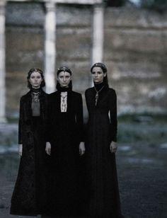 Gather in Three... Valentino Haute Couture Fall/Winter 15-16, photographed by Fabrizio Ferri