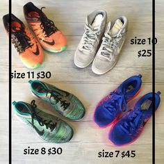 Tuesdays were made for running!!! Well we have the perfect shoes to help you run or hit the gym with. And what better brand than Nike! Why on earth would you pay over $120 for a pair of Nikes when we here at Plato's Closet in Lincoln Park have the same pairs for under $45!!!! Shop smart and Work out hard…
