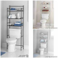 Bathroom Storage Shelf Organizer Over The Toilet 3 Tier Rack Towel Bronze  Metal