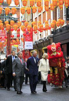 Charles et Camilla célèbrent le Nouvel An chinois , London