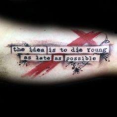 Typography Tattoo Men with Trash Polka Design on Inner Arm Biceps ., Typography Tattoo Men with Garbage Polka Design on Inner Arm Biceps - Tattoos Arm Mann, Wolf Tattoos, Arm Tattoos For Guys, Body Art Tattoos, Sleeve Tattoos, Men Tattoos, Trash Polka Design, Trash Polka Frau, Tatuagem Trash Polka