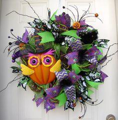 Halloween Black Green Orange and Purple with by NicoleDCreations, $95.00