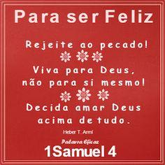 Palavra e Ação : Pecados– 1 Samuel 4