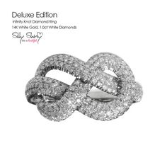 Infinity Knot Diamond Ring - The original Delux Edition-  14K Gold