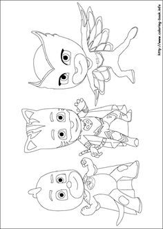 21 PJ Masks Printable Coloring Pages For Kids Find On Book Thousands Of