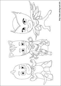 PJ Masks Coloring Picture Pj Pages For Kids Sheets