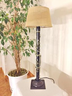 Clarinet lamp by MusicLampsArt on Etsy