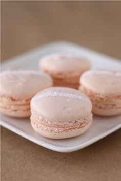 OMG....rose water macarons with champagne buttercream!