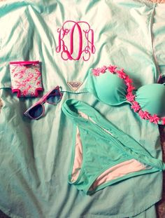 monogrammed pfgs! they're the perfect swimsuit coverup!