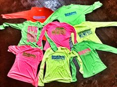 """Bright NEW Breakaway Running t-shirts with """"Run Memphis"""" """"I Run Memphis"""" """"Run the 901"""" and more! Best place to get fit for running shoes in Memphis and the greater Mid-south! Nearly SOLD OUT!"""