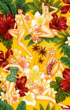 Tropicana pin up girls