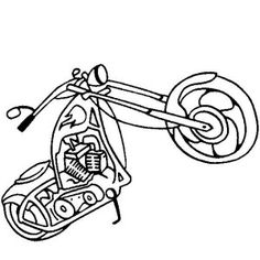 chopper motorcycle coloring page chopper motorcycle coloring page