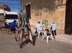 Fabio Maddalo - estemporanea di pittura - Galugnano (Lecce)