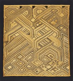 Ceremonial Textile Panel Democratic Republic of Congo (formerly Zaire), Kuba Culture, Shoowa people, late 19th to early 20th century