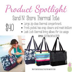 This beautiful beach/pool bag is new for Spring 2018! Shop for it  online at: www.mythirtyone.com/83872