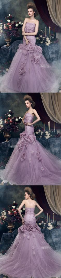 Fairy tale gown for the non traditional bride Bridal Gowns, Wedding Gowns, Glamour, Colored Wedding Dresses, Purple Wedding, Violet, Beautiful Gowns, Purple Dress, Evening Gowns