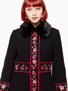 Kate Spade Lanni Coat, Black - Size 12