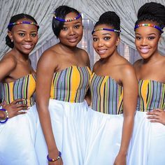 #day1 my beautiful bridesmaids...flawless#TshepowedsRachel