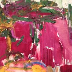 Joan Mitchell, unknown on ArtStack #joan-mitchell #art Joan Mitchell, Tachisme, Willem De Kooning, Garden Painting, Painting & Drawing, Abstract Expressionism, Abstract Art, Inspiration Artistique, Franz Kline