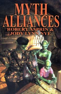 Myth Alliances (Myth Adventures, 13) (Myth Adventure Series) by Robert Asprin et al., http://www.amazon.com/dp/1592220096/ref=cm_sw_r_pi_dp_Gniqtb12XSGT9