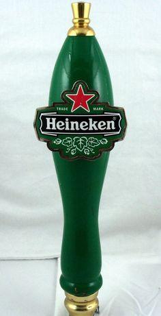 "SOLD!  We have other tap handles available. Click on the link to see more. http://stores.ebay.com/Blue-Skies-Bits-n-Baubles/Barware-Beer-Tap-Handles-/_i.html?_fsub=12594939010 Heineken Red Star 11"" Beer Tap Bar Handle Wooden Keg Marker Man Cave #ShifterKnob #Holland #Heineken #Beer #RatRod"