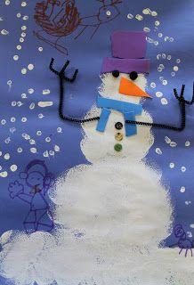 Art Room 104: Kindergarten: Sponge-Paint Snowmen