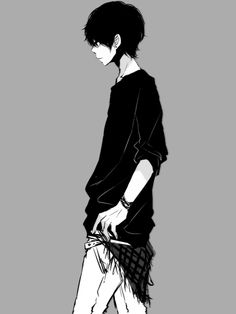 Shared by Dark Level [Psycho]. Find images and videos about boy, black and white and anime on We Heart It - the app to get lost in what you love. Cute Anime Boy, Hot Anime Guys, I Love Anime, Awesome Anime, Anime Boys, Manga Anime, Manga Boy, Anime Art, Dark Anime