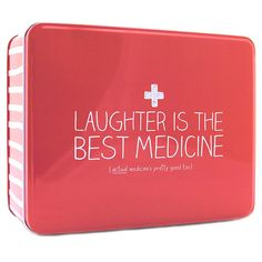 Happy Jackson  Laughter is the Best Medicine  Rectangular Storage Tin