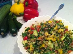 Summer Quinoa Salad *good and easy! I did steam the veggies before putting them in*
