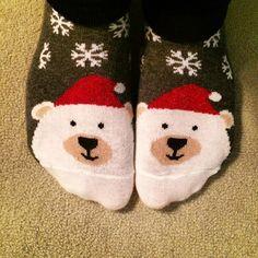 Xmas socks!!! #topshop #polarbearsocks #xmassocks
